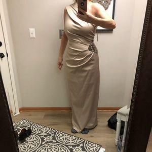 Eliza j long dress one shoulder